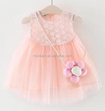 Summer Children Clothes One Year Baby Party Dresses Pleated Princess Tutu Skirt with Vest Tops