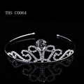 2016 New silver crystal hair accessory small crowns