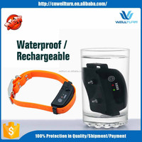 Waterproof No Bark Collar Vibrate Pet Trainer Products Supplies