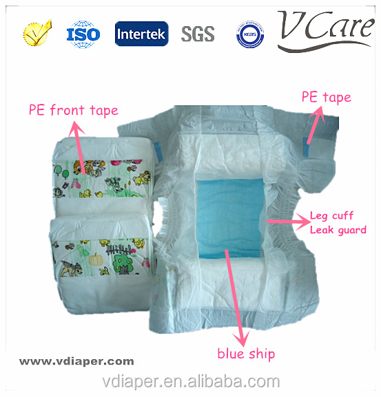 cheap disposable baby diaper for india&pakistan&africa