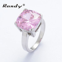Pink Diamond and White Gold Rings