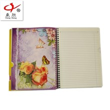 China factory supply notebook paper with color pages