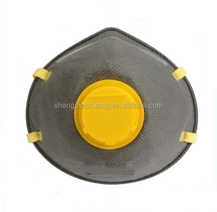 Carbon filter respirator anti pollution face mask