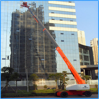 Telescopic construction lift platform for narrow space working