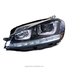 HID car head lights auto spare parts for Volkswagen Golf MK7 headlight Led angel eyes