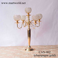 2017 New design Hot sale High quality 5 arms silver crystal wedding candelabra for wedding party&hotel decoration (CAN-002)