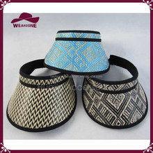 Nice design summer straw sun visor for women