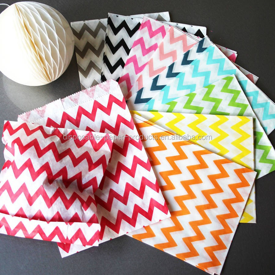 Chevron Stripe Party Goody Bags FAVOR BAGS MEDIUM ZIG ZAG paper bags party favour giveaway Paper buffet
