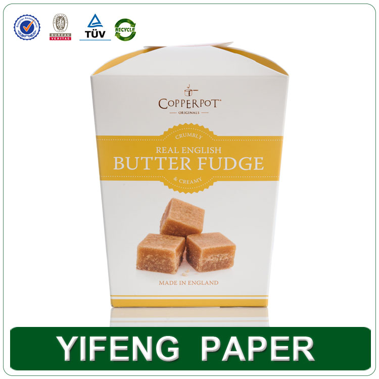 China custom cheap e-co friendly mini paper printing folding peanut crackers box