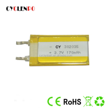 302035 LIPO 3.7v lipo battery 170mah li ion polymer battery for bluetooth products