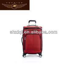 red polyester trolley travel luggage 2014 large trolley case