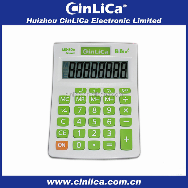 8 digit colorful cheap calculator, big display solar power calculator wholesale