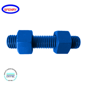 Fenry ASME B18.31.2 PTFE Xylan Coated Blue Stud Bolt With Hex Nuts