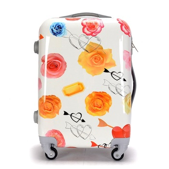 Citi Trends CYMK Printing ABS PC Luggage Bags Travel Luggage Bags Carry on Luggage Size