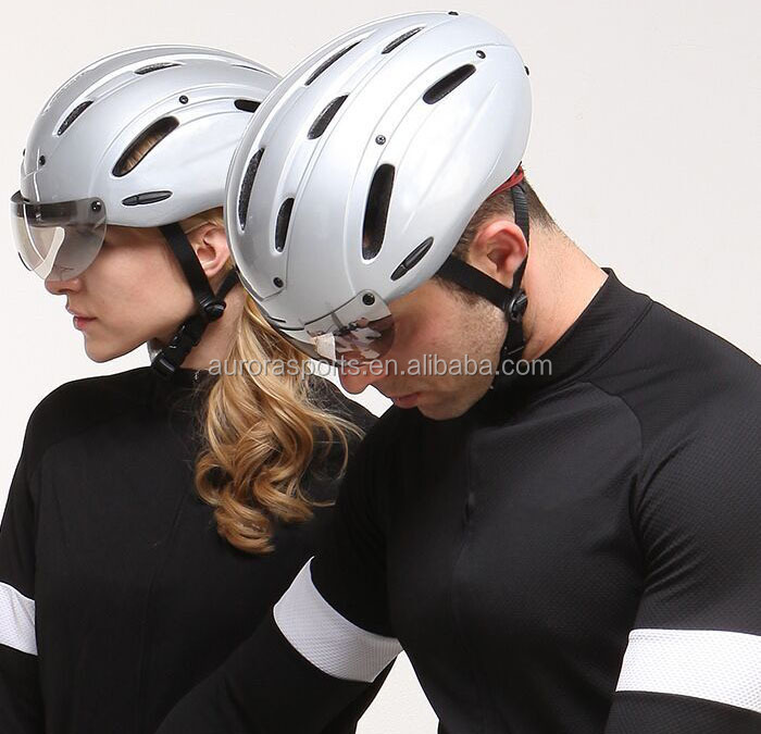 China factory price inmould mountain bike helmet with fabric visor for cycling