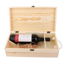 Wine Box Carrier Crate Case Best Gift Decor 35*19*10cm Dual Bottle