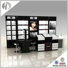 MDF wooden cosmetic display shelf cosmetic store shelf