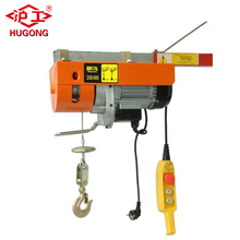 110v PA200 pulling cable tool wire rope sling price mini electric hoist 200kg