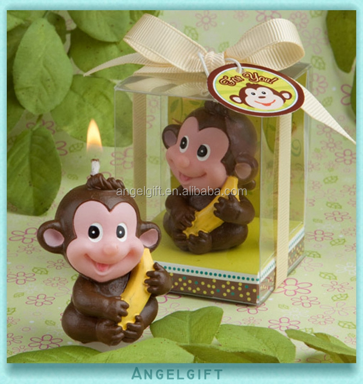Wedding Baby Shower Favors Lovable Monkey Art Candle