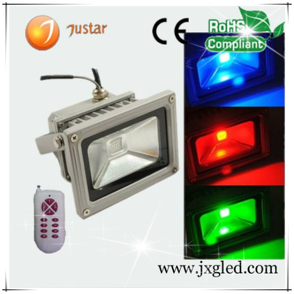 grey or black color european led light warm white JX-FLS-10W led projector