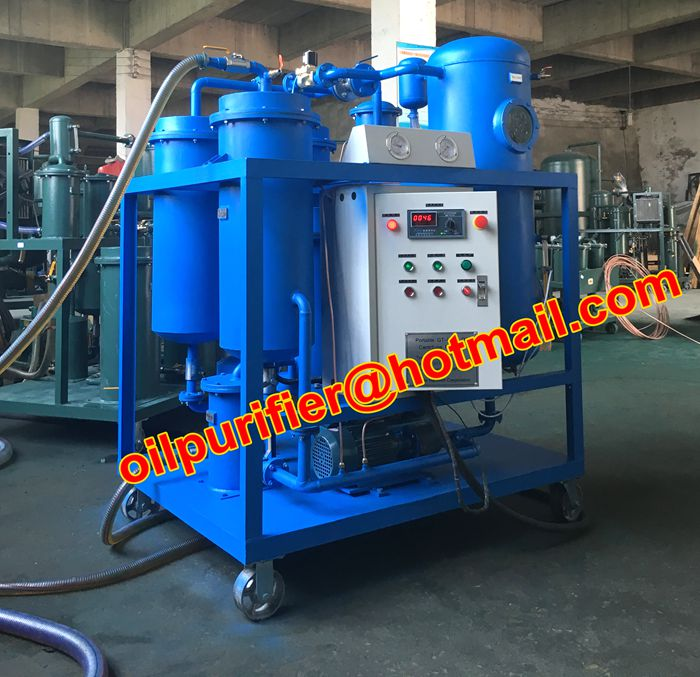 Emulsified turbine oil flushing machine,polishing and turbine oil vacuum purifier,2017 new sale