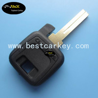 New products transponder key shell for volvo key with logo and transponder chip plug volvo key cover