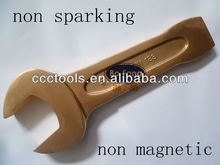 DIN 133 slogging open end wrench,non sparking non magnetic striking open end wrench,beryllium copper striking open end spanner