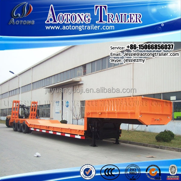 Heavy Duty Utility rc cargo tri <strong>axles</strong> 50ton low loader trailer truck with 12 <strong>wheels</strong>