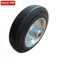 75/100/125/160mm small size solid rubber toy wheel