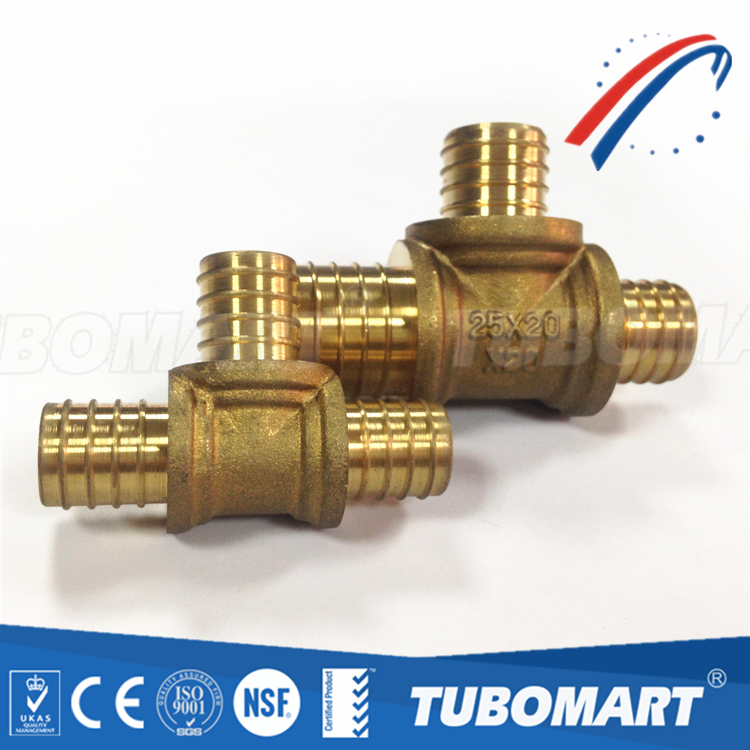 Spanish Style CN602N 16mm brass tee pipe connector miniature tee fitting for water supply