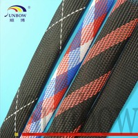 Flame Retardant Durable Braided Expandable Sleeve for Fishing Rod