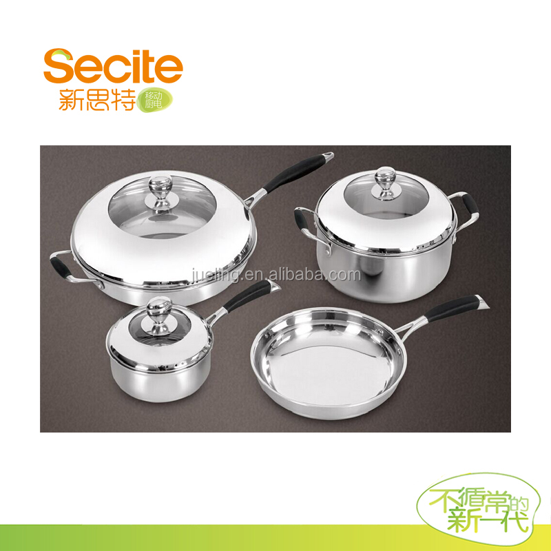 Induction Cookware Set Kitchen Cookware Stainless Steel Cookware Without Aluminum