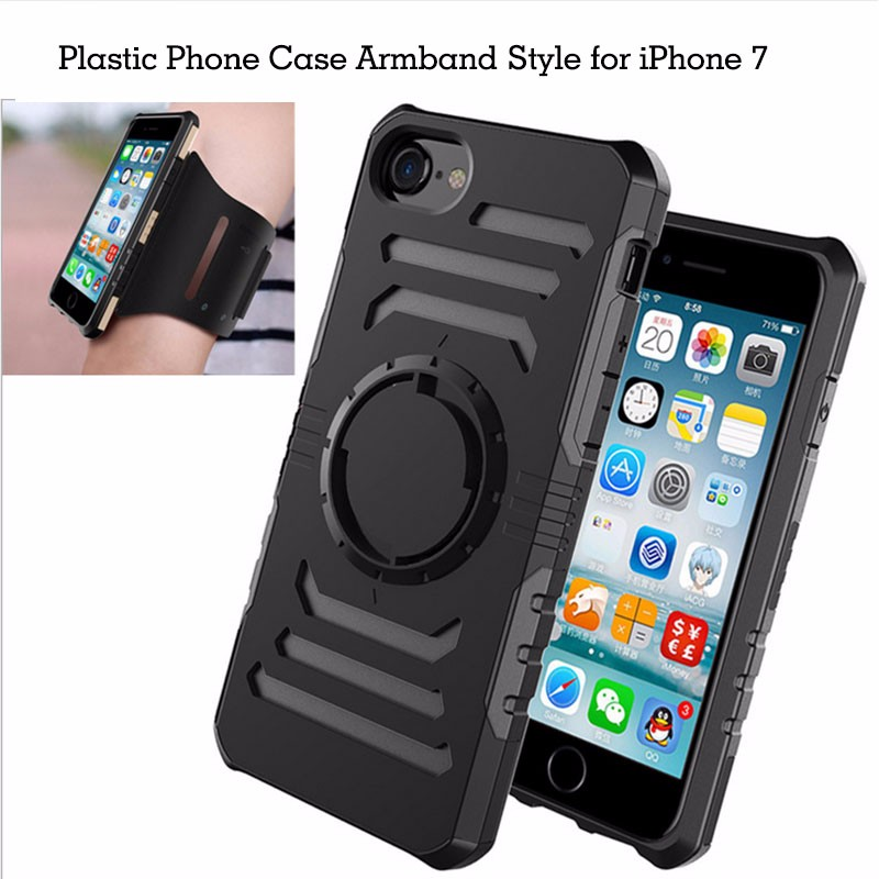 Custom plastic phone case for iPhone 6 7 sport armband for iPhone for iPod nano 6 armband phone case 2 in 1