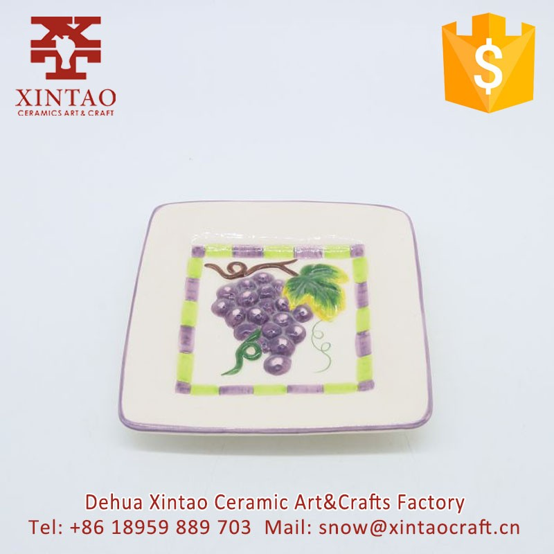 Hotel and Restraunt used Purple grapes square dish kitchenware and tableware
