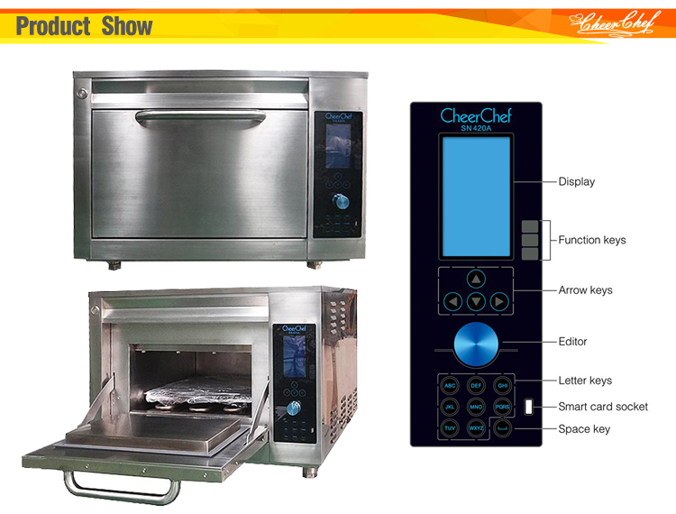 15 times faster than traditional cooking methods, Introducing high speed convection oven