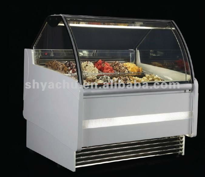 KS-B3-1600 economical ice cream display cabinet with electrothermal demisting anf defrosting