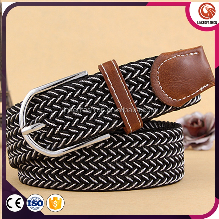 High Quality Mens Braided Elastic Stretch Belts For Jean