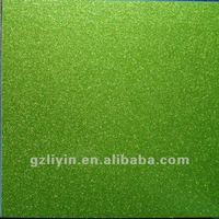 Shiny green PVC coated MDF