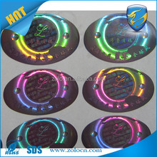 Cheap high quality Products Permanent Adhesive christmas decoration sticker with hologram logo