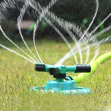 2017 New Watering Head Garden Supplies Lawn Sprinkler Garden Sprinklers Water Durable Rotary Three Arm Water Sprinkler