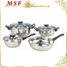 MSF-3202 Cheap wholesale stainless steel cookware 7pcs Stainless steel cookware set