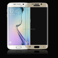 Newest!100% full size 3D curved edge anti-scratch tempered glass screen protector for Samsung S6 edge