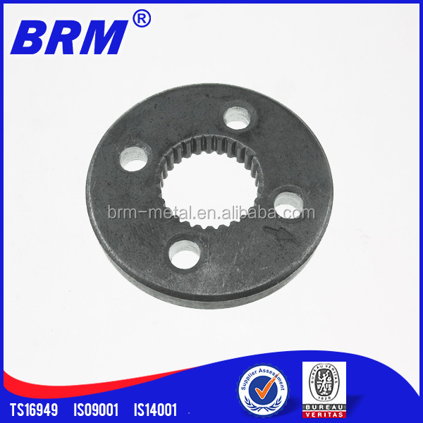 Customized Powder FC-0205 Iron-Copper Threaded Flange Compaction Concrete Pump Parts for Sale