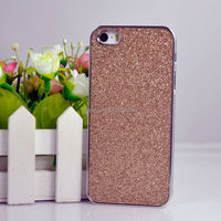 Hot Selling Luxury Plating Flash Powder Mobile Phone Cover Case for iPhone 5 5s