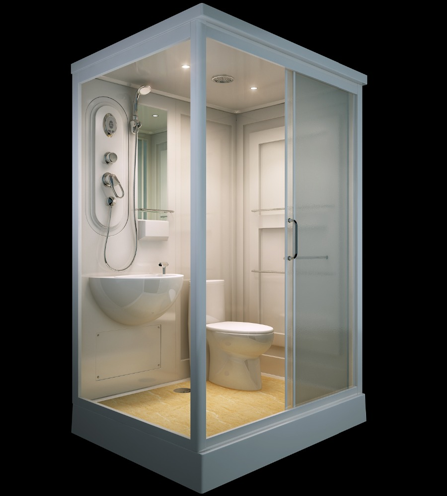 China supplier SUNZOOM prefab bathroom shower, prefab modular bathroom, prefab toilet bathroom