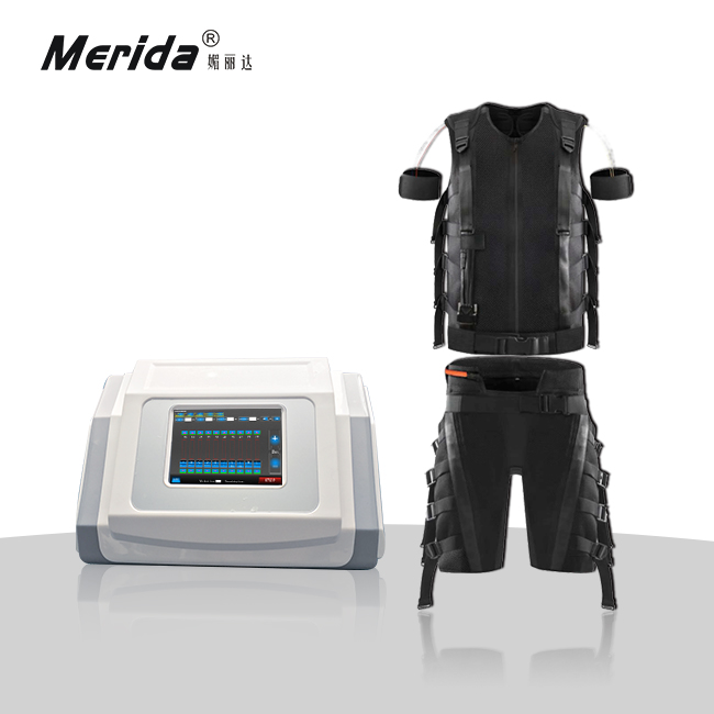 Electronic muscle stimulation ems fitness device wired / Electronic muscle activation fitness machine