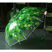 green leaves clear bubble poe material dome shaped transparent clear dome umbrella