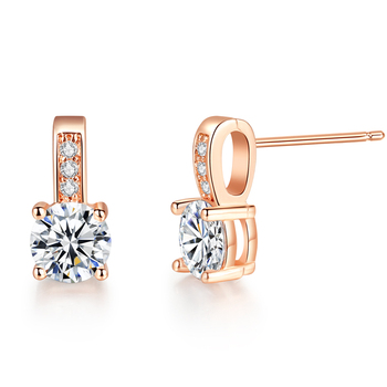 New Arrival Wedding Jewelry rose gold plate Cubic Zircon Earring