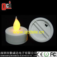 yellow flickering led tea light candle CR2032 battery included with FCC certification