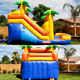 ZZPL Commercial Roaring Rainforest Water Slide/ Outdoor Inflatable Bouncer Water Slide for kids party